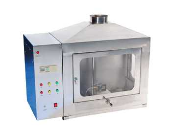 Building materials flame tester